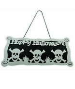 Halloween Skeleton Print Door Window Decorations Pumpkin Accessories Hal... - $8.90