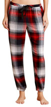 Anthropologie Flannel Joggers XSmall 0 2 Loungers Sleep Pants Red Plaid COMFY - $41.30
