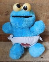 Vintage Sesame Street COOKIE MONSTER In Diaper 12'' Plush Toy Stuffed - $12.86