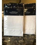 2 New Ralph Lauren *BAILEY* Tuxedo Park White Standard Shams Orig. 370.00 - $93.49