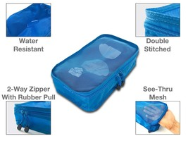 Compression Packing Cubes for Travel, Laundry and Shoe Bag Organizer 7 pcs - $555,38 MXN