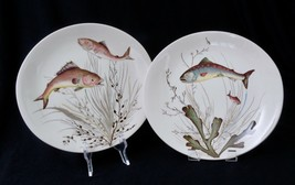 Johnson Brothers FISH Oval Dinner Plates No. 3 & No. 5 Made in England Set of 2 - $55.00