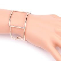 UE- Stylish Rose Tone Designer Bangle Bracelet Cuff With Trendy Geometric Design - $14.99