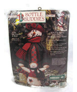 Dimensions Bottle Buddies Ms Chilly & Willy Christmas Snowmen Filt Kit 1... - $24.74