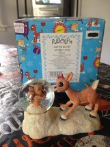 Rudolph & The Island of Misfit Toys Clarice Looking At Racoon WaterBall ... - $69.99