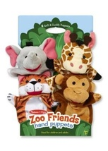 Zoo Friends Hand Puppets - Preschool Pretend Play - $18.99