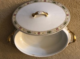 """Homer Laughlin Covered Serving BowL Empress Pattern 10"""" FREE SHIPPING - $18.77"""