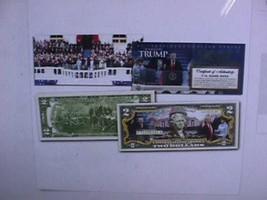 DONALD TRUMP 45th Presidential INAUGURATION Official U.S. $2 Bill w/ 2-S... - $29.21