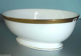 Lenox LANDMARK GOLD Open Oval Vegetable Bowl Dish Made in USA New - $42.90