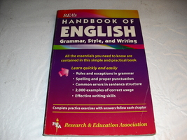 reas  handbook  of  english  grammar, style,  and  writing - $1.25