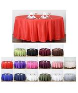 """Events Decoration Polyester Tablecloth for Wedding Party Banquet 108"""" Ro... - $24.75"""