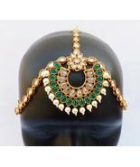 ETHNIC PEARL MATHA PATTI GOLDEN HEAD CHAIN HIJAB BRIDAL INDIAN JEWELRY A... - $36.58