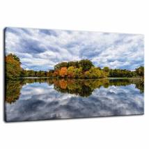 An item in the Art category: Autumn Foliage and Cloud Reflections Fine Art Canvas & Unframed Wall Art Prints