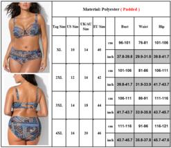 Women's Designer Push Up Bikini Summer Bathing Suit Plus Sizes image 4