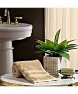 One Beige Hand Towel Hotel Luxury Reserve Collection Cotton 16 x 30 inches  - $13.86