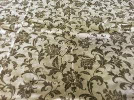 Velvet Floral Upholstery Fabric 2 yards - $57.00