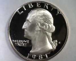 1981-S TYPE 2 WASHINGTON QUARTER SUPERB PROOF+ DEEP CAMEO SUPERB PR+ DCA... - $15.00