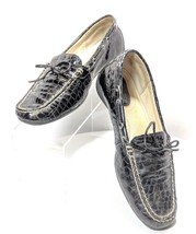 Sperry Topsider Women's 6.5m Croc Embossed Patent Leather Shoes (sb15) - $17.09