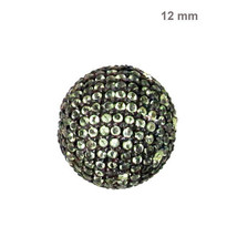 Disco Ball 925 Sterling Silver Gemstone Spacer Bead Finding Vintage Jewe... - $182.01
