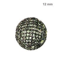 Disco Ball 925 Sterling Silver Gemstone Spacer Bead Finding Vintage Jewe... - $182.01