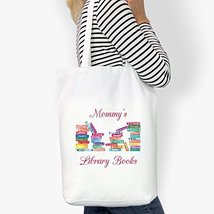 Mommy's Library Books Custom Cotton Tote Bag - $14.99