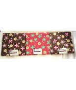 Creative Cuts 3 Fat Quarter Brown and Pink Flowers 100% Cotton Sewing Fa... - $14.99