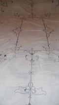 VINTAGE TABLECLOTH EMBROIDERED OPENWORK FLORAL TULIP DESIGN ART DECO 60X... - $29.65