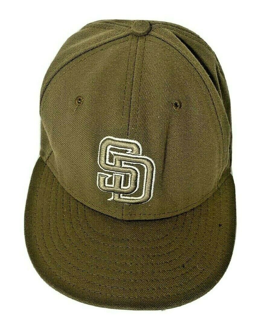 New Era 59fifty Brown San Diego Padres Fitted Cap Hat - Size 7 5/8 - $14.99
