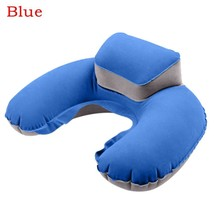 New U Shaped Travel Pillow Inflatable Neck Support Headrest Cushion Soft... - $13.99