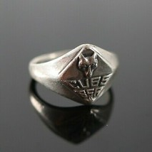 Vintage 925 Sterling Silver Boy Scouts BSA Cub Camping Survival Size 5 R... - $17.99