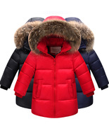 HOT retail winter thick girls long sections down jacket kids girls down ... - $63.87