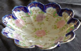 Hand Painted Antique China Footed Bowl - GORGEOUS OLD COLLECTIBLE - VGC - $29.69