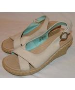 Crocs Sand Beige Womens Slingback Sling Back Heels 8 Shoes - $23.58