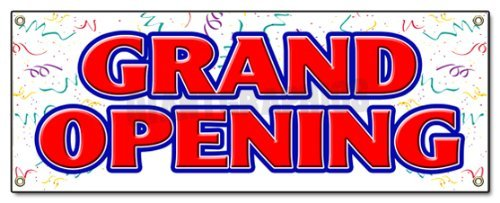 "72"" Grand Opening Banner Sign New Store Sign Signs"