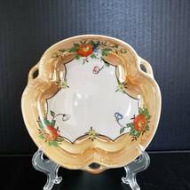 Vintage Lusterware Peach Lusterware Bowl Reticulated Handles Roses Made ... - $19.99
