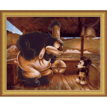 Disney Parks Mickey In A Bind Gold Frame Giclee by Darren Wilson New - $534.46