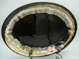 "Pfaltzgraff Vintage Gourmet Brown Drip Design on 14"" Oval Roaster/Platter - $23.83"