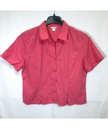 Christopher and Banks Linen Shirt Womens Size XL Summer Vacation Easter  - $34.64