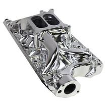 Polished Aluminum Small Block Ford Intake Manifold 60's-70's SBF 260 289 302 5.0 image 2