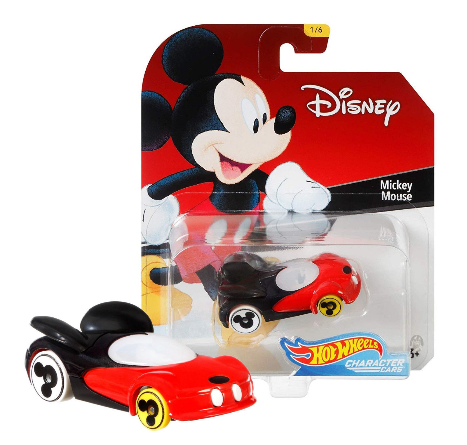 Hot Wheels Mickey Mouse Character Cars Series 1 1/6 Mint on Card