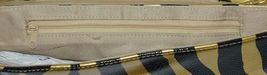 Prezzo Brand Style 3208 Black Gold Zebra Striped Clutch Purse Removable Strap image 4