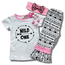 "Cute Kids Clothing ""Wild One"" Girl's Aztec Capri Outfit Boutique Clothin... - $22.49"