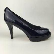 Stuart Weitzman Ladies Navy Patent Peep Toe Shoes US 8.5 UK 6 - $125.00