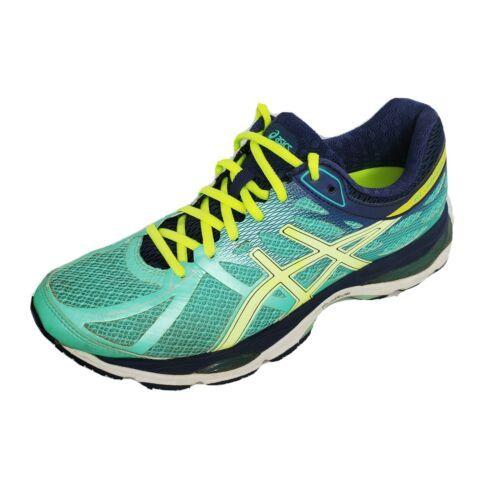 Asics Womens 9 Athletic Sneaker Training Shoes Gel Cumulus 17 T5D8N Aqua Blue - $19.65