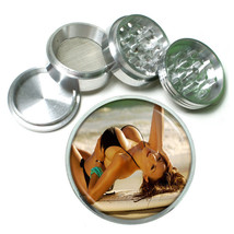Surfer Pin Up Girls D9 63mm Aluminum Kitchen Grinder 4 Piece Herbs & Spices - $13.81