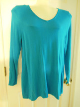 Lane Bryant Turquoise Sweater 60% Cotton 40% Rayon New W Tag  sz 14 16  - $16.74