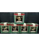 HALLMARK Keepsake Ornaments SANTA AND HIS REINDEER 1992 COMPLETE SET W/ ... - $47.51