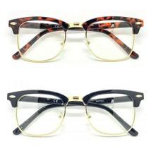 New Fashion Clear UV Lens Retro Fashion Malcolm X Half Frame Flash Sungl... - $14.07