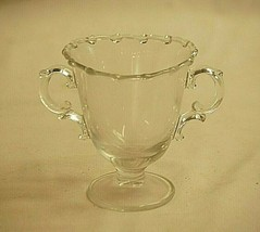 "Old Vintage Century by Fostoria 4"" Footed Open Sugar Bowl Elegant Glassware - $19.79"