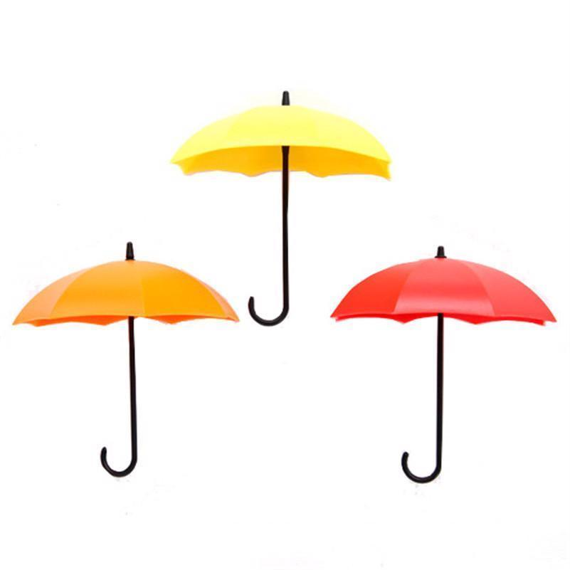 3pcs/lot Key Wall Holder Umbrella Rack Creative Key Hanger Decorative Wall Hook